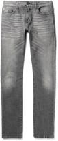 Saint Laurent - Skinny-fit 15cm Hem Washed-denim Jeans