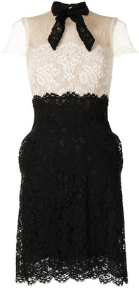 Valentino Pre-Owned Pussy Bow Lace Minidress