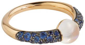 Pomellato Rose Gold, Sapphire and Moonstone M'ama Non M'ama Ring