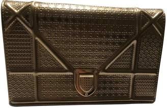 Christian Dior Diorama Gold Leather Handbags