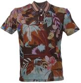 Valentino Tropical Print Cotton Polo Shirt