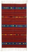 Novica Handcrafted Zapotec Wool 'Life's Roads' Rug (2'5x5) (Mexico)