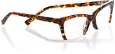 Eyebobs Flat Cat Semi-Rimless Cat-Eye Readers, Tortoise