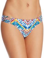 Red Carter Printed Strappy Side Bikini Bottom