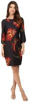 Christin Michaels Jeane Floral Print 3/4 Sleeve Dress