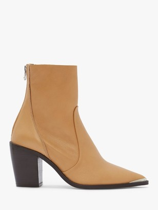 Mint Velvet Amy Leather Ankle Boots