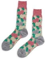 Ayame Paneled Camouflage Socks Pink