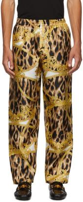 Versace Underwear Black and Yellow Animalier Barocco Pyjama Trousers