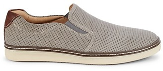 Johnston & Murphy Culling Perforated Suede Slip-On Sneakers