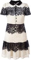RED Valentino embroidered shirt dress - women - Cotton/Silk/Polyester/Polyamide - 40