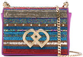 DSQUARED2 medium DD sequin crossbody bag - women - Silk/Goat Skin/Polyamide/Viscose - One Size
