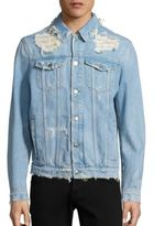 MSGM Distressed Denim Jacket