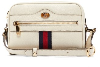 Gucci Ophidia Mini Leather Cross-body Bag - White