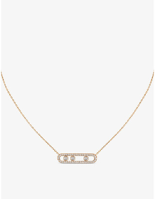 Messika Move Pave 18ct pink-gold and diamond necklace