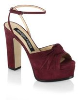 Sergio Rossi Kaia Pitch Platform Knot Sandals