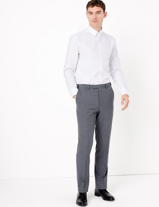 Marks and Spencer The Ultimate Big & Tall Grey Slim Fit Trousers