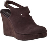 Cordani Windham Wedge Mule Brown Suede