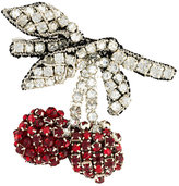 No.21 cherry embellished brooch