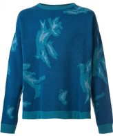 Baja East abstract print sweatshirt - men - Cashmere - 2