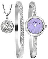 Limit Women's Quartz Watch with Purple Dial Analogue Display and Silver Alloy Bangle 6178G.55