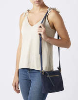 Monsoon Zoey Zip Pocket Leather Cross Body Bag