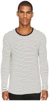 ATM Anthony Thomas Melillo Long Sleeve Striped Viscose Tee Men's T Shirt
