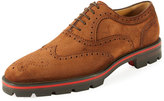Christian Louboutin Charli Me Men's Suede Brogue Oxford