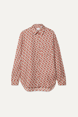 Burberry Printed Silk-satin Twill Shirt - Red