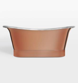 Rejuvenation Coba Rose Gold Exterior Soaking Tub with Nickel Waste & Overflow