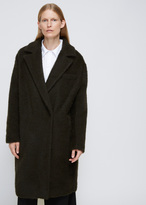 Dusan Brown Asymmetric Coat