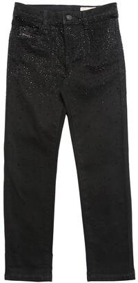 Diesel Embellished Stretch Cotton Denim Jeans
