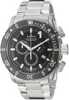 Edox Men's 10221 3M NIN Chronoffshore-1 Analog Display Swiss Quartz Silver Watch