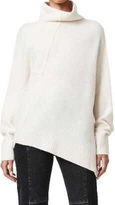 AllSaints Lock Roll Neck Wool Blend Sweater