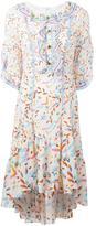 Peter Pilotto multiple print ruffled dress - women - Silk - 6