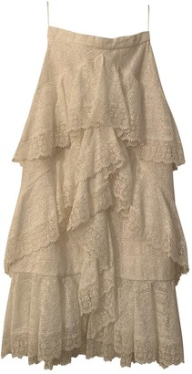 Erdem White Cotton Skirt for Women