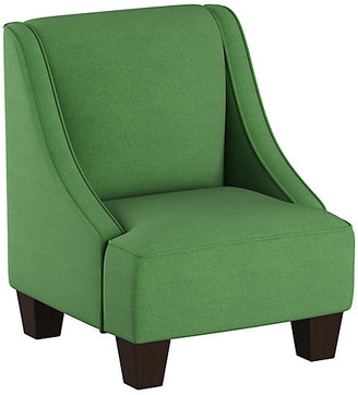 One Kings Lane Fletcher Kids' Accent Chair - Green Linen