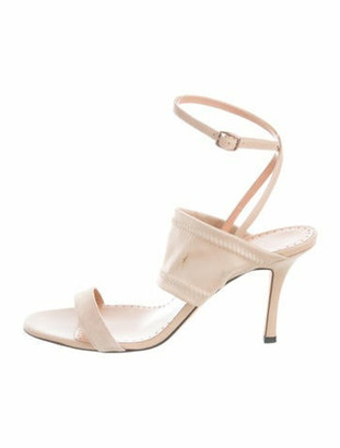 Alexa Wagner Suede Ankle Strap Sandals Tan