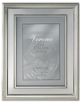 Lawrence Frames 5 by 7-Inch Silver Plated Metal Picture Frame, Brushed Silver Inner Panel