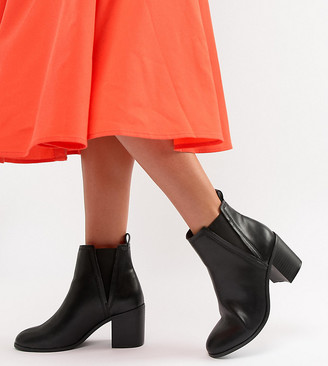 ASOS DESIGN Reside heeled ankle chelsea boots