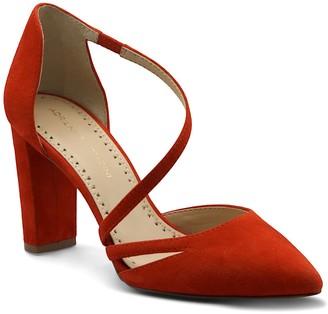 Adrienne Vittadini Nath Faux Suede Block Heel Sandal
