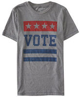 Aeropostale Mens Vote Graphic T Shirt Gray