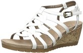LifeStride Women's Neva Wedge Sandal, White