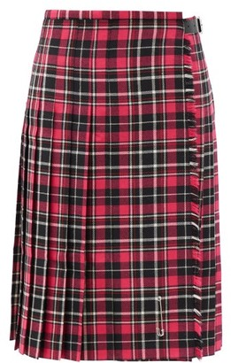 Le Kilt Lisa Tartan Wool Kilt - Pink Multi