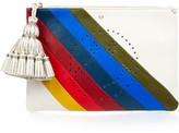Anya Hindmarch Rainbow Smiley Georgiana leather clutch