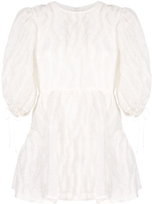 Cecilie Bahnsen Textured Puff Sleeve Blouse