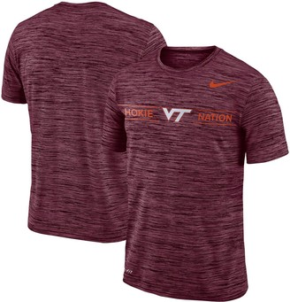 Nike Men's Maroon Virginia Tech Hokies Velocity Sideline Legend Performance T-Shirt
