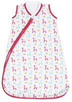 JJ Cole Wearable Blanket, Bright Giraffes, 0-6 Months by