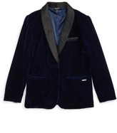 Marciano Girl's Velvet Tuxedo Blazer