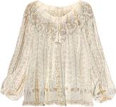 Mes Demoiselles Exquis cotton-blend gauze top