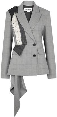 Monse Panelled Checked Wool-blend Blazer